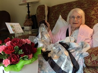 My 94-year-old grandmother, with her broken shoulder